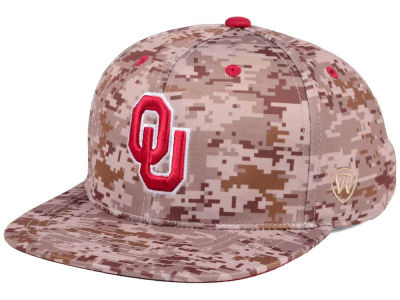 Oklahoma Sooners Top of the World NCAA Camo Fitted Cap