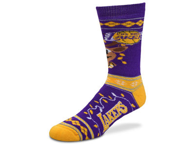Los Angeles Lakers For Bare Feet 2017 Ugly Sweater Socks