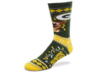 Green Bay Packers For Bare Feet 2017 Ugly Sweater Socks