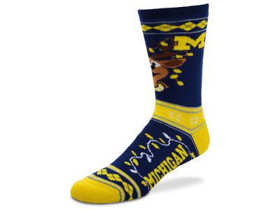 Michigan Wolverines For Bare Feet 2017 Ugly Sweater Socks