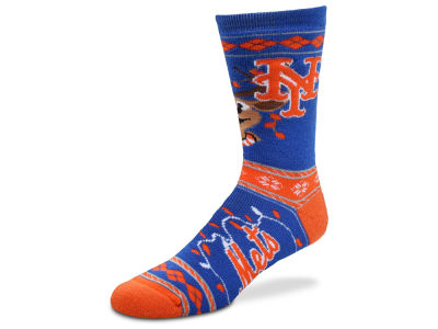 New York Mets For Bare Feet 2017 Ugly Sweater Socks