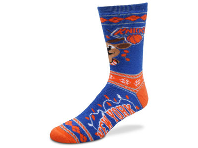 New York Knicks For Bare Feet 2017 Ugly Sweater Socks