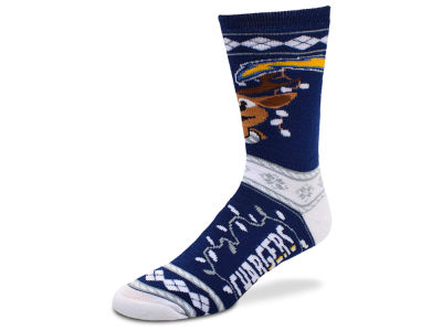 San Diego Chargers For Bare Feet 2017 Ugly Sweater Socks
