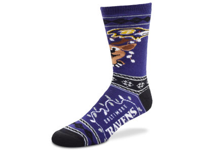 Baltimore Ravens 2017 Ugly Sweater Socks