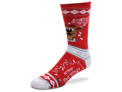 Detroit Red Wings For Bare Feet 2017 Ugly Sweater Socks