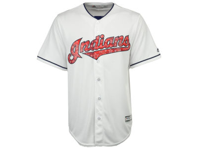 Cleveland Indians Majestic MLB Men's Stars & Stripes Cool Base Jersey