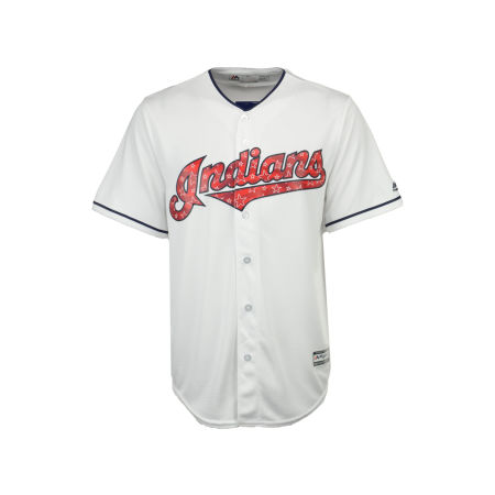 Cleveland Indians MLB Men's Stars & Stripes Cool Base Jersey