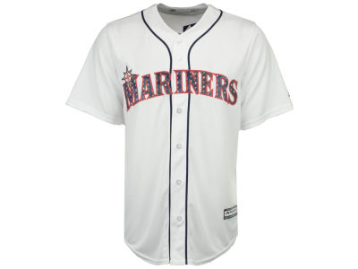 Seattle Mariners MLB Men's Stars & Stripes Cool Base Jersey
