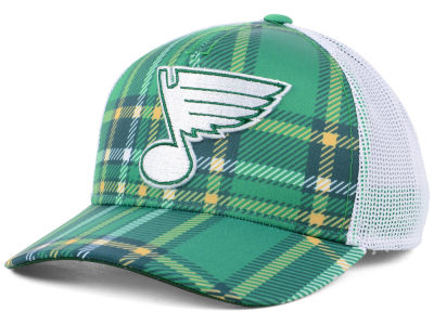 St. Louis Blues adidas 2018 NHL St. Patrick's Day Adjustable Cap