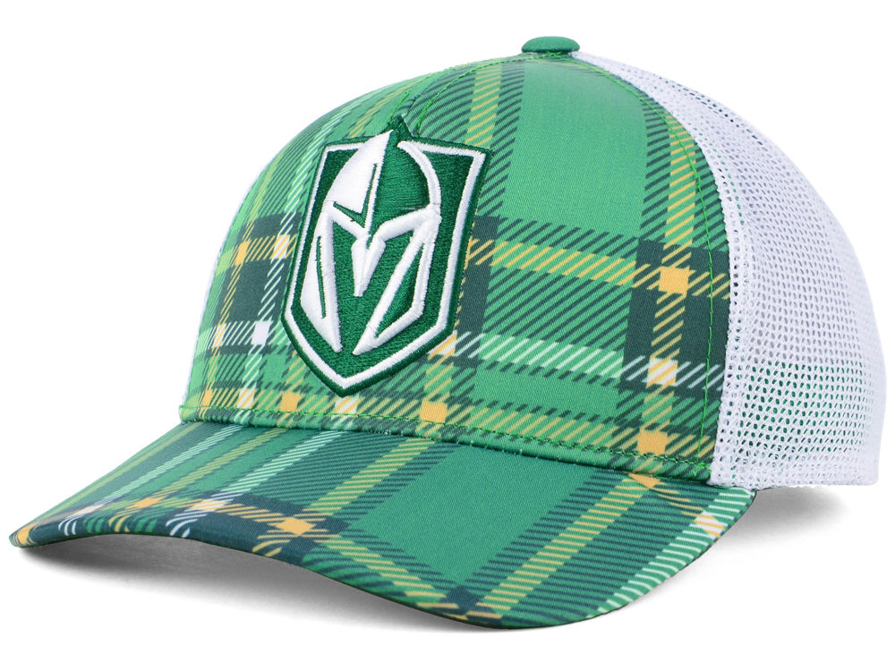 Vegas Golden Knights adidas 2018 NHL St. Patrick s Day Adjustable Cap  0560886669e
