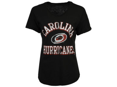 Carolina Hurricanes Retro Brand NHL Women's Rolled Sleeve Rounded T-Shirt