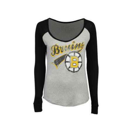 Boston Bruins NHL Women's Raglan Long Sleeve T-Shirt