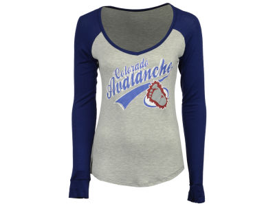Colorado Avalanche Retro Brand NHL Women's Raglan Long Sleeve T-Shirt