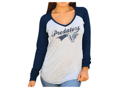 Nashville Predators Retro Brand NHL Women's Raglan Long Sleeve T-Shirt