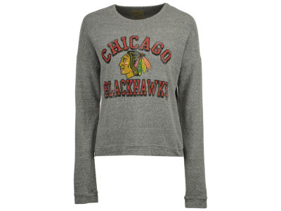 Chicago Blackhawks Retro Brand NHL Women's Lightweight Haachi Crew Sweatshirt