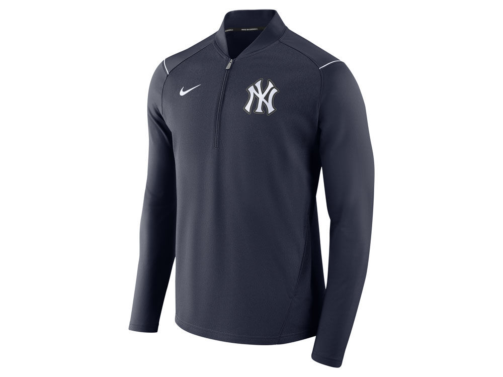 New York Yankees Nike MLB Men s Dry Elite Half Zip Pullover  0fbe6c4d6