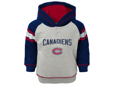 Montreal Canadiens Outerstuff NHL Toddler Stripe Terry Hoodie
