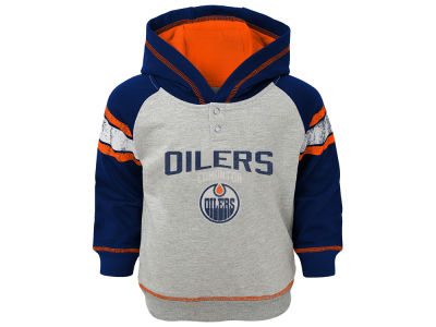 Edmonton Oilers NHL Toddler Stripe Terry Hoodie