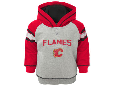 Calgary Flames NHL Toddler Stripe Terry Hoodie