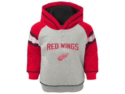 Detroit Red Wings NHL Toddler Stripe Terry Hoodie