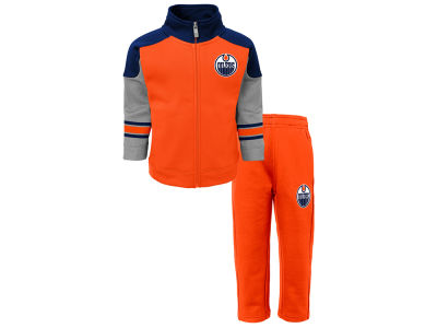 Edmonton Oilers adidas NHL Toddler Shutdown Jacket & Pant Set