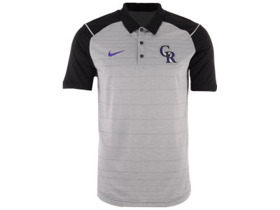 Colorado Rockies MLB Men's Stripe Polo
