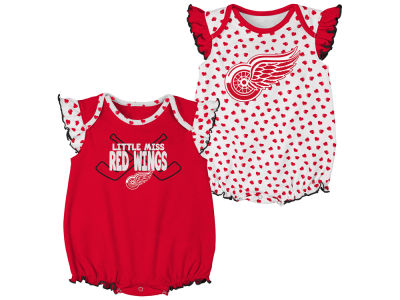 Detroit Red Wings Outerstuff NHL Infant Hockey Hearts Set