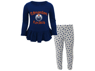 Edmonton Oilers NHL Toddler Sweet Heart Long Sleeve & Pant Set