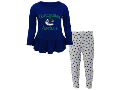 Vancouver Canucks NHL Toddler Sweet Heart Long Sleeve & Pant Set