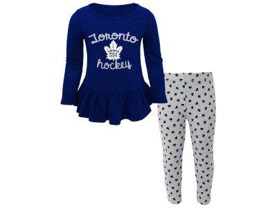 Toronto Maple Leafs NHL Toddler Sweet Heart Long Sleeve & Pant Set