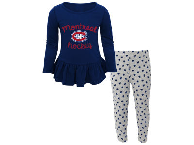 Montreal Canadiens NHL Kids Sweet Heart Long Sleeve & Pant Set