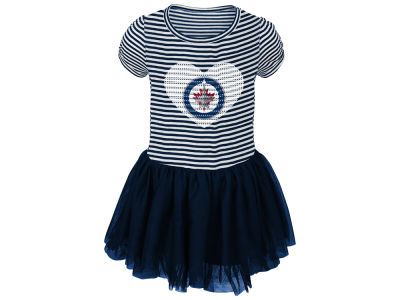 Winnipeg Jets Outerstuff NHL Kids Ice Queen TuTu Dress