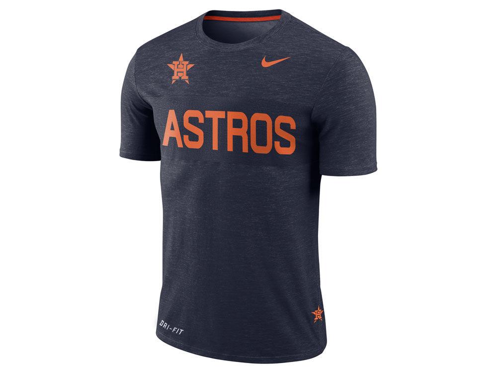 850fa5eaa Houston Astros Nike MLB Men's Dri-Fit Slub Stripe T-Shirt