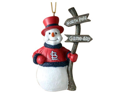 St. Louis Cardinals Memory Company Snowman with Sign Ornament