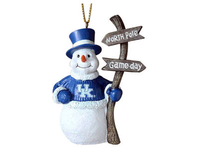 Kentucky Wildcats Snowman with Sign Ornament