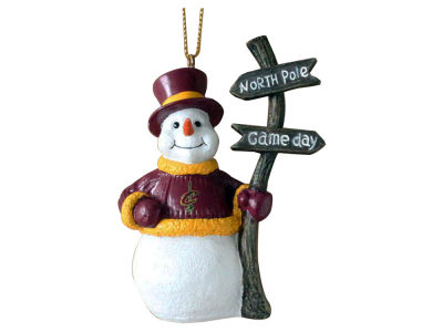 Cleveland Cavaliers Snowman with Sign Ornament