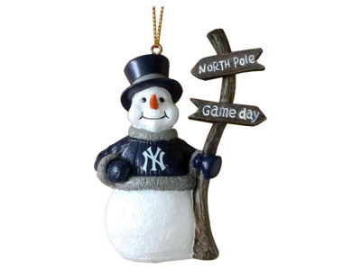 New York Yankees Snowman with Sign Ornament
