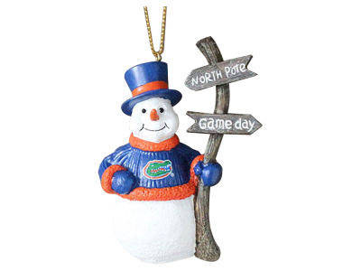 Florida Gators Snowman with Sign Ornament