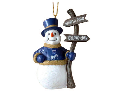 Kansas City Royals Snowman with Sign Ornament