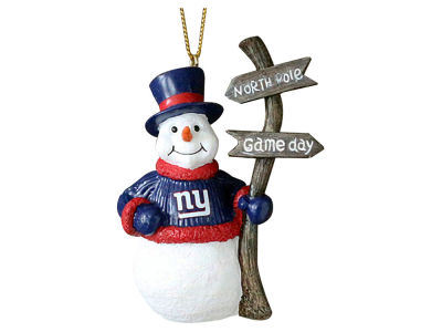 New York Giants Snowman with Sign Ornament