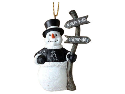 Chicago White Sox Snowman with Sign Ornament