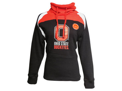 Ohio State Buckeyes J America NCAA Women's Funnel Neck Hooded Sweatshirt