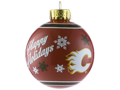 Calgary Flames 2017 Glass Ball Ornament