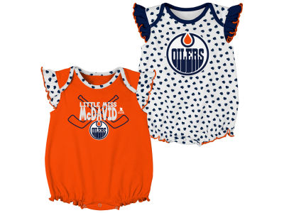 Edmonton Oilers Outerstuff NHL Infant Hockey Hearts 2 Piece Creeper Set