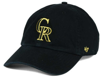 Colorado Rockies '47 MLB Metallic CLEAN UP Cap