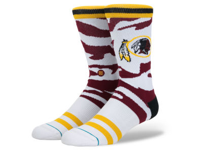 Washington Redskins Stance NFL Men's Tiger Stripe Crew Socks