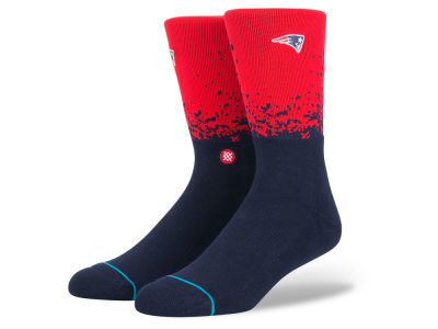 New England Patriots Stance NFL Fade Crew Socks
