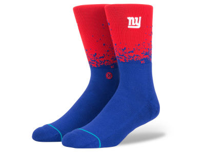 New York Giants Stance NFL Fade Crew Socks