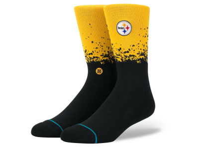 Pittsburgh Steelers Stance NFL Fade Crew Socks