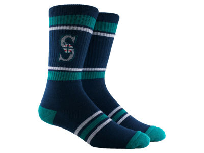 Seattle Mariners Parkway MLB Stripe Crew Socks